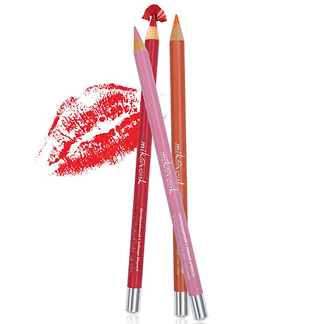 Chì Kẻ Môi Quyến Rũ Mik Vonk Professional Lipliner Pencil Hàn Quốc 05 Màu hồng tặng kèm móc khoá - 1 cây 2