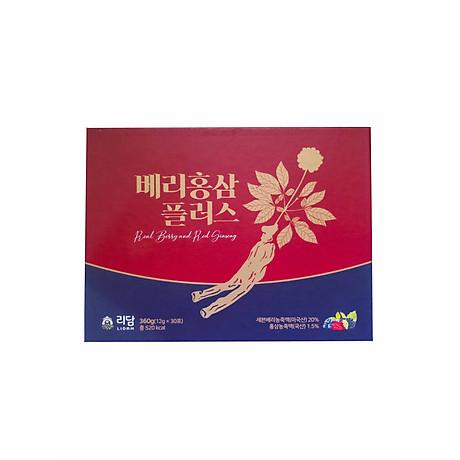 Nước Hồng Sâm Quả Mọng Cung Cấp Collagen Và Vitamin Berry Red Ginseng Plus 360g (12g x 30 gói) Hàng Nhập Khẩu Cao Cấp 1