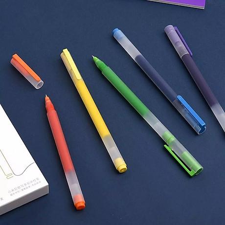 Bút viết Xiaomi 0,5mm gel bút đồ dùng học tập văn phòng phẩm 5 cái bút viết màu 3