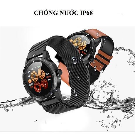 Đồng hồ thông minh đo nhịp tim, huyết áp T5 ( Sang trọng, độc đáo ) - Hàng Nhập Khẩu - Dây thép đen 8