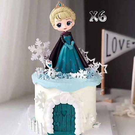 Búp bê công chúa Elsa trang trí bàn học, trang trí bàn làm việc, làm đồ chơi 4