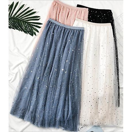 Chân váy ren Tulle - Tutu xòe tròn đính trăng sao lấp lánh giá siêu tốt VAY21 Free size 2