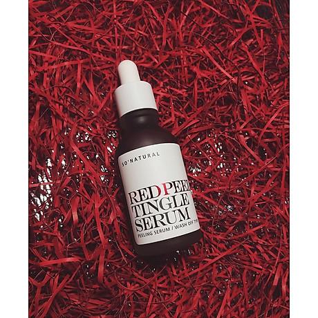 Tinh chất tái tạo da sinh học So Natural Red Peel Tingle Serum Tái tạo da 35ml+ Tặng kèm 1 mặt nạ sủi bọt Su m 37 Đen 8