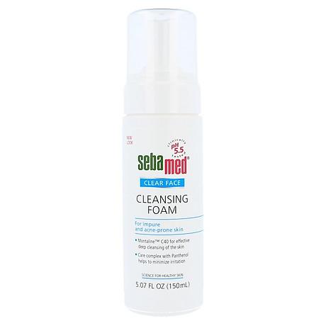Sữa rửa mặt tạo bọt kháng khuẩn giảm mụn Sebamed Cleansing Foam 150ml 2