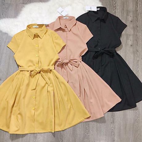 Đầm Sơ Mi Cát Hàn Thời Trang Nữ - BY8107 1