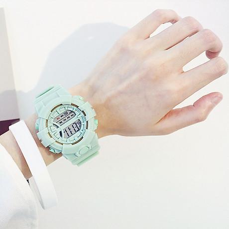 Đồng hồ điện tử nam và nữ KASAWI k562 Sports Đồng hồ Học sinh trung học cơ sở Hàn Quốc thể thao chống thấm nước- xem giờ điện tử - báo thức - bấm giờ thể thao - xem lịch ngày tháng thứ - Dây Silicone Bền Chắc 3