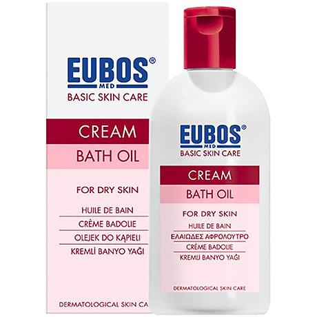 Sữa Tắm Dạng Dầu Không Kiềm Cho Da Khô EUBOS Cream Bath Oil (200ml) 1