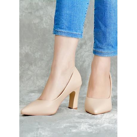 Giày Cao Gót Nữ Vasmono Đế Vuông Sành Điệu V017012 1