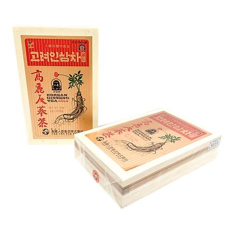 Trà hồng sâm Hàn Quốc Okinsam Hộp gỗ 100 gói - Dạng bột giúp giải nhiệt, giảm mệt mỏi, tỉnh táo tinh thần 3