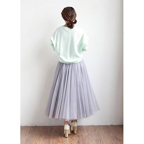Chân váy midi tulle dài 2