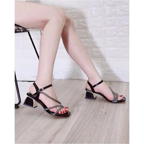 Giày Sandal cao gót phối kim sa, chiến binh xinh và cực đẹp MT36 1