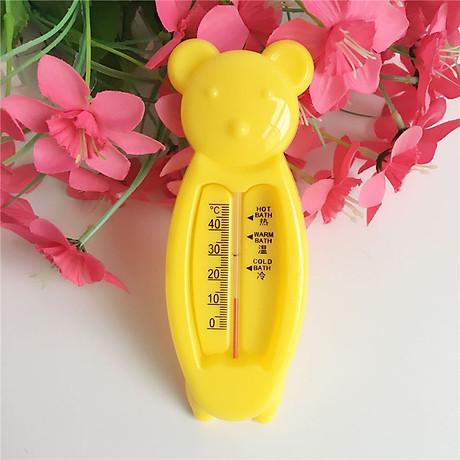 Dụng cụ đo nhiệt đồ nước tắm cho bé hình gấu, Chất liệu nhựa PP an toàn, Kích thước 16 5.7cm, Trọng lượng 25.7cm (giao màu ngẫu nhiên) 4