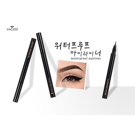 Bút Kẻ Mắt Nước Siêu Lì - Sắc Mảnh Vacosi Waterproof Eyeliner Pen 6