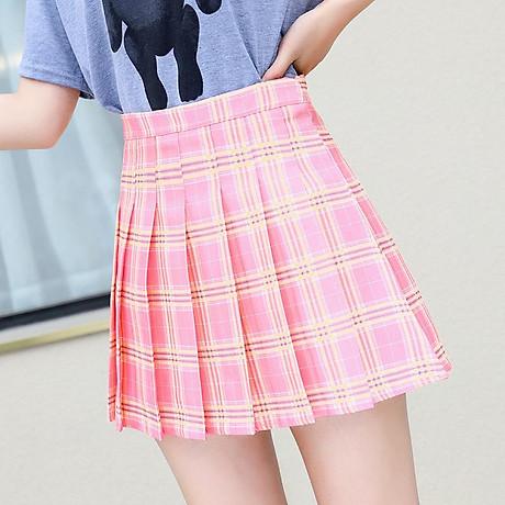 Chân Váy TennisKẻ Caro Hàn Quốc Siêu Xinh VT01 3