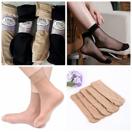 Combo 10 đôi tất da chân nữ loại ngắn loại tốt, mỏng mát, dai khó rách v 1