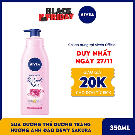 Sữa Dưỡng Thể Dưỡng Trắng NIVEA Hương Anh Đào Dewy Sakura (350ml) - 85703 1