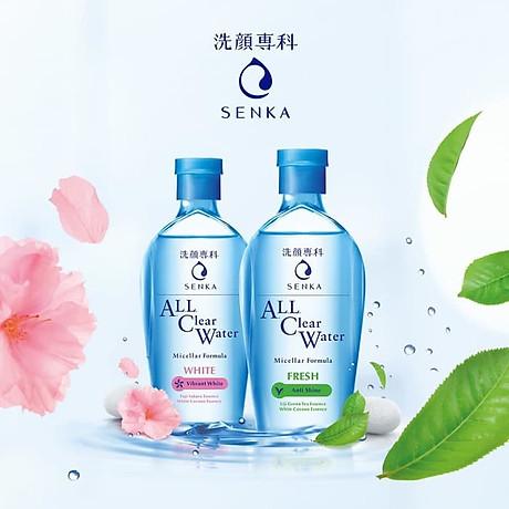 Combo 2 sản phẩm Sữa Rửa Mặt Ẩm Mịn Và Săn Chắc Da Senka Perfect Whip Collagen In và Nước tẩy trang SENKA A.L.L. CLEAR WATER Micellar Formula White 230ml 2