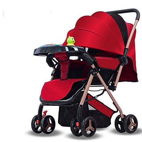 Xe đẩy cho bé HUAYING ,Xe đẩy em bé 2 chiều 3 tư thế màu đỏ,màu xanh,màu kaki,màu hồng 1