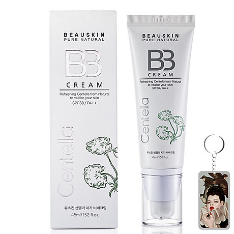 Kem nền kiểm soát dầu Beauskin Centella Cica BB Cream Hàn Quốc 45ml + Móc khóa 1