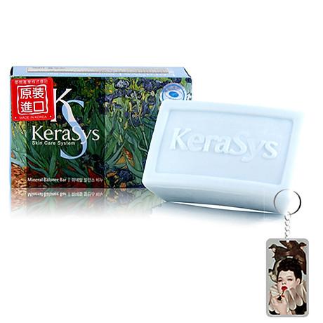 Xà bông tắm dưỡng da Kerasys Mineral Balance Bar Hàn Quốc 100g - Dành cho da dầu + Móc khoá 1