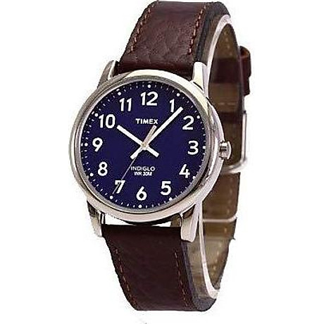 Timex Men s T2P319 Easy Reader Brown Leather Strap Watch 2