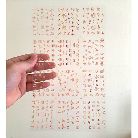 Set dán móng tay nails dán nghệ thuật nhiều mẫu 1