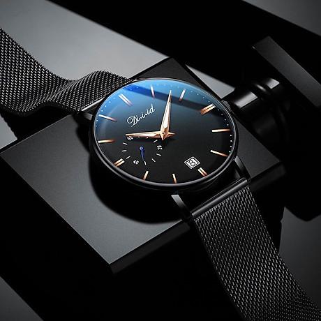 Đồng hồ nam cao cấp DIZIZID Dây Titanium Chạy Full 3 Kim Và Lịch Ngày - High Fashion Design DIZ3KD9 1