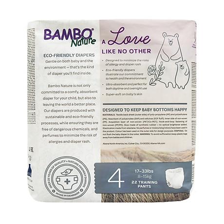 Tã Quần Em Bé Hữu Cơ Bambo Nature - gốc Đan Mạch - 8-15kg - L22 - 22 miếng 3