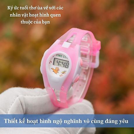 Đồng hồ điện tử UNISEX PAGINI TE02 Phong cách thể thao Trang trí các nhân vật hoạt hình cực dễ thương 5