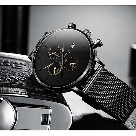 Đồng hồ nam business VINIEL thiết kế economicxi chất liệu dây thép phong cách thanh lịch VE118 Hàng Chính Hãng 6