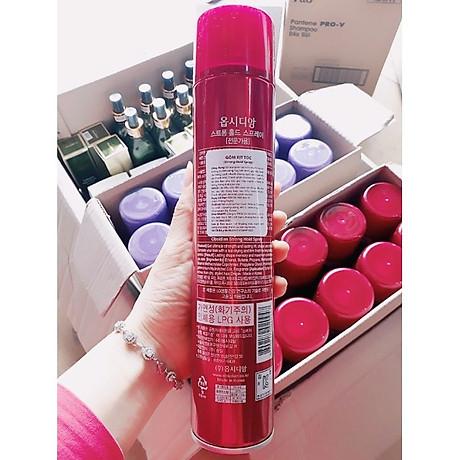 Gôm xịt tóc cứng Obsidian Strong Hold Spray Hàn Quốc 300ml tặng kèm móc khóa 6