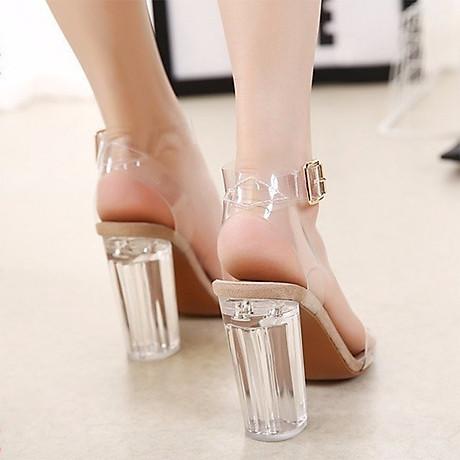 Giày Sandal Cao Gót - Trong Suốt 5
