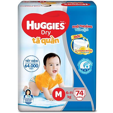 Tã Quần Huggies Dry Gói Cực Đại M74 (74 MIếng) - Bao Bì Mới 2