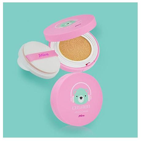Phấn nước mỏng mịn Mira Cushion Air CC Cream Hàn Quốc 15g tặng kèm móc khoá 6
