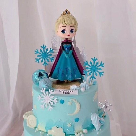 Búp bê công chúa Elsa trang trí bàn học, trang trí bàn làm việc, làm đồ chơi 3