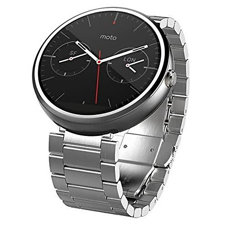 Motorola 1.56-Inch Moto 360 Smartwatch 23mm for Android and iphone - Light Metal (Discontinued by Manufacturer) 2