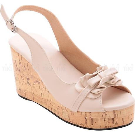 Giày Đế Xuồng Nữ Phối Nơ Bèo LN1072 - Kem 2