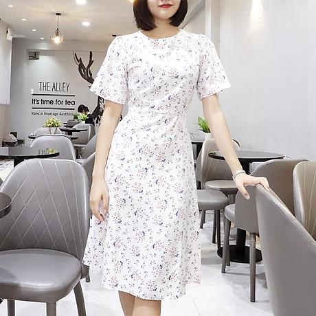 Đầm váy nữ dài hoa nhí, dáng xoè, đẹp nhẹ nhàng, đơn giản, ngọt ngào RD037.2 4