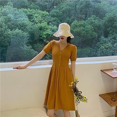 Váy len tay bồng 2