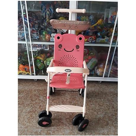 Xe đẩy du lịch (có mái che, phanh chân, bảo hiểm, túi đồ)- màu cho bé trai- chọn màu ngẫu nhiên 2