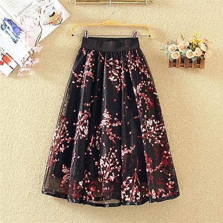 Chân váy ren hoa 2 lớp Cv17 1
