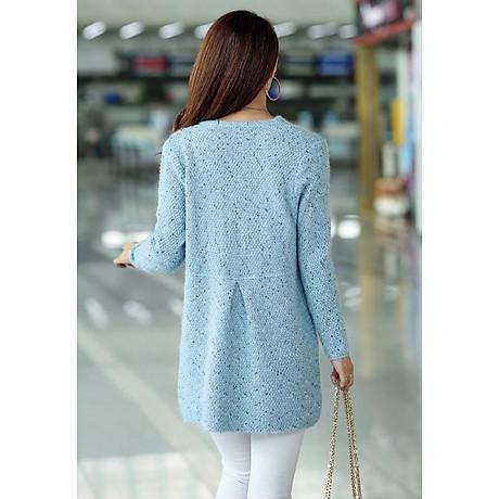 Áo khoác len dáng dài phong cách Hàn Quốc 2