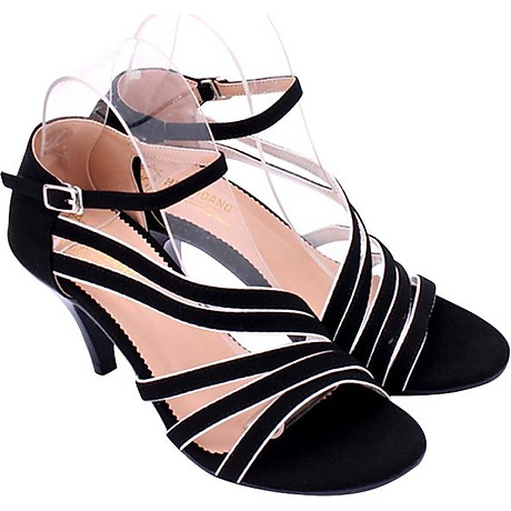 Giày Sandal Nữ Cao Gót Huy Hoàng HT7061 - Đen 1