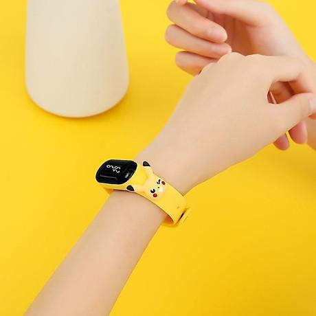 Đồng Hồ Điện Tử Trẻ Em Đèn Led Họa Tiết Hoạt Hình 3D Xinh Xắn DH109 4