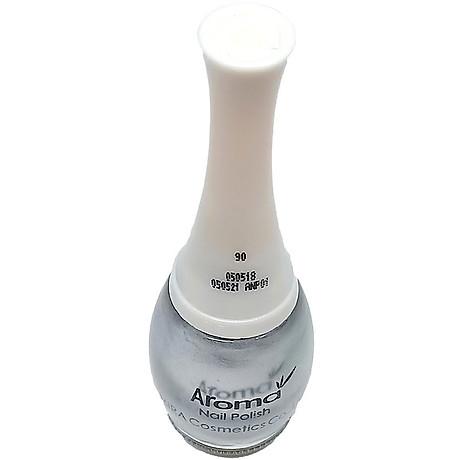 Sơn móng tay Aroma Nail Polish Hàn Quốc 12ml 90 kim loại tặng kèm móc khóa 4