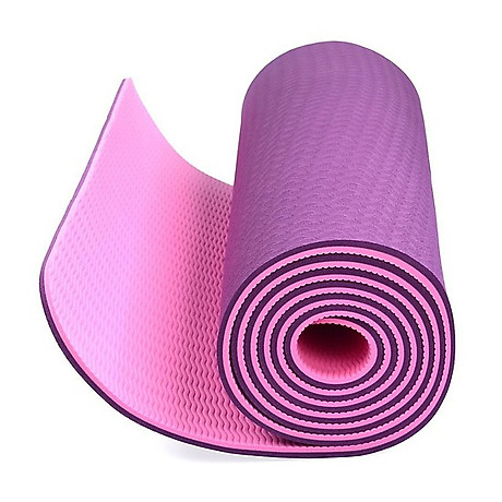 Thảm tập Yoga dày 8 mm giao màu ngẫu nhiên tặng kèm 2 bàn chải hàn quốc 1