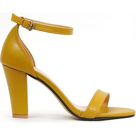 Giày sandal nữ cao gót, chiều cao gót 9CM, da Microfiber nhập khẩu cao cấp êm ái, bền chắc và thời trang, mũi tròn, gót trụ vững trãi bọc da đồng màu sang trọng và chắc chắn, thiết kế đơn giản, tinh tế, thời trang SD.V04.9F 2