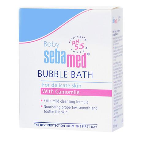 Sữa Tắm Tạo Bọt Dịu Nhẹ Cho Bé Sebamed Baby Bubble Bath pH 5.5 SBB01B (200ml) 3