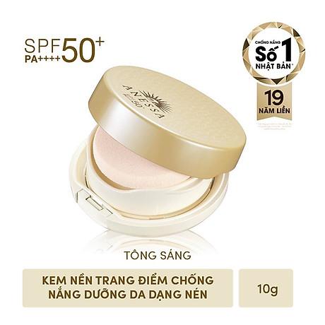 Kem Nền Trang Điểm Chô ng Nă ng Dươ ng Da Dạng Nén Anessa Perfect UV Skincare Base Makeup SPF50+ PA+++ 10g 2