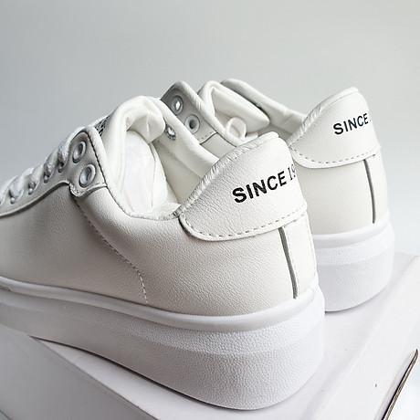 Giày thể thao sneaker nữ phong cách hàn quốc, màu trắng đế cao HMS-Sin1990 size từ 34 đến 40 2